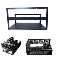 Open Air Bitcoin Mining Rig Frame Case for 6 GPU