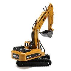 HUINA 1:50 Alloy Excavator Diecast Model High Simulation Engineering Digging Machine Kids Toys