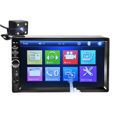 7018B 7Inch 2Din Car MP5 Player HD Touch Screen Stereo Radio MP3 FM USB bluetooth with Backup Camera