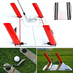 Golf Swing Trainer Speed Trap Base With 4 Pcs Speed Rods For Golf Special Traning