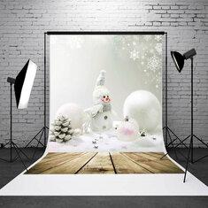 5x7ft Christmas Snowman Wall Board Studio Photo Photography Background Backdrop