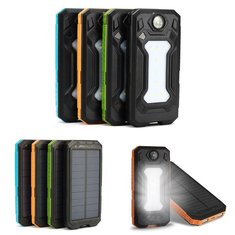 Bakeey DIY Welded Solar Dual USB Power Bank Case Kits with LED Light for Smartphones