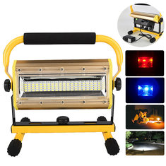 100W 3.7V 2400Lumens 3Modes Rechargeable LED Floodlight IP64 Waterproof Security Light