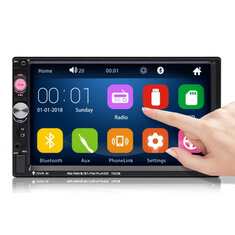 iMars 7023B 7 Inch 2 DIN Car Stereo Radio MP5 Player FM USB AUX HD bluetooth Touch Screen Support Rear Camera