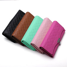 Handy Classical PU Leather Button Wallet Clutch Long Women Wallet