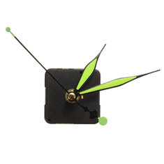 Green & Black Luminous Hands DIY Quartz Clock Spindle Movement