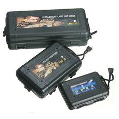 Black Plastic Flashlight Tool Storage Case Box For Outdooors Flashlight Accessories