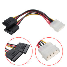4 Pin IDE Molex To ATA SATA Y Splitter Hard Drive Power Adapter Cable