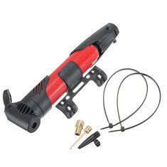 Bike Portable Foldable Skidproof Tire Tyre Inflator Air Pump Red