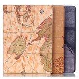 Projeto do mapa de cobertura estojo de couro pu para folio t800 guia samsung s