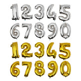 Золото серебро количество фольги воздушный шар свадьба день рождения украшения