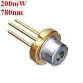 3.3mm 780nm 200mW Infravermelho IR Laser Gerador de Módulo Diodo Laser
