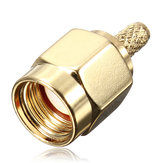 Bronze rp-sma janela central plugue macho friso conector do adaptador de cabo RF