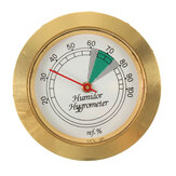 43mm Diameter Precision Analog Hygrometer Moisture Meter For Tobacco Cigar Humidor