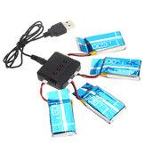 Eachine QX95 QX90 E30 E30W Syma X5-15 X5C X5SW-1 H5C 1 tot 4 3,7V 600MAH Upgrade batterij