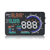Carro 5.5inch a8 cabeça-up display hud com plug interface de obd2