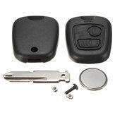 2 botão kit shell caso de reparação interruptor de chave remota para peugeot 206