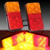 2pcs de 10 LED camions témoin de butée arrière de voiture de lumière de queue de feu arrière