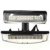 2pcs 18 SMD LED número da matrícula luz para Lexus