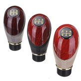 Car 5 Speed Manual Gear Stick Knob Shift Gloss Mahogany Wood