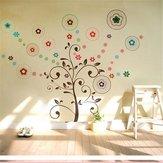 Décor d'art d'autocollants mural d'arbre chanceux fond mural en vinyle amovible décor de famille