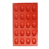 20 Cavity Silicone Shell Cake Pan Chocolate Mold Cookies Baking Mold