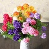 Artificial Daisy Chrysanthemum Fiori di seta Bouquet floreale 8 teste 7 colori Home Garden