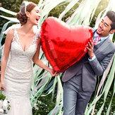 36 inch Nhôm Lá tim Balloon Balloon Tiệc cưới Cầu hôn Tình yêu Trang trí