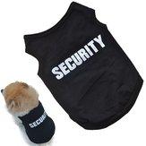 Schwarz Cool Dog Vest Haustier-Katze-Welpen-Sommer-Kleidung T-Shirt aus Baumwolle Mantel-Kleid-Kostüm-