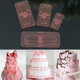 4 Sztuk Plastikowe Bow Ciasto Cutter Formy Iced Cookie Biscuit Fondant Embosser Craft