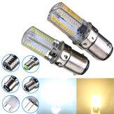 BA15d dimmable 3W 3014smd branco quente LED 220-240V branco / bulbo silicone