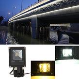 10 Вт датчик движения pir LED свет потока IP65 теплый/холодный белый освещение