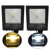 50W PIR Motion Sensor LED Flood Light IP65 Warm/Cold White Lighting