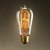 ST58 E27 40W 220V Retro Edison Bulb Waterdrop Incandescent Bulb