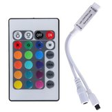 24 Key Mini IR remoto Controlador Para 3528 5050 RGB LED Strip Light DC 12V