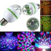 E27 3W RGB LED Bulb Luz de Discoteca de Escenario Giratoria Auto Colorida 85-265V