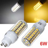GU10 LED Bulb 6W 48 SMD 5050 AC 220V White/Warm White Corn Light
