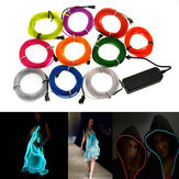 4M 10 couleurs 3V Flexible Neon EL Wire Light Dance Party Decor Light