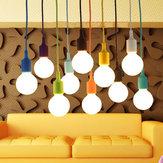 Colorful E27 Silicone Rubber Pendant Light Lamp Holder Socket DIY