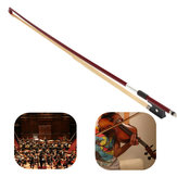 Professional 4/4 Black Handle Arbor White Copper Horsehair Violin Bow