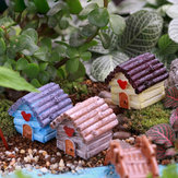 Micro Landschaft Dekoration Resin Mini Haus Garten Decor DIY