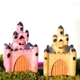 Resin Mini Castle Micro Landscape Decorations Garden DIY Decor