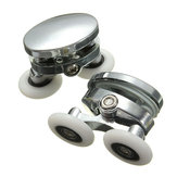 2 pezzi 25mm doccia porta rulli in lega di zinco accessori per ruote bagno in vetro