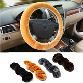 Warm Plush Winter Car Steel Ring Wheel Cover Soft Auto Accessories