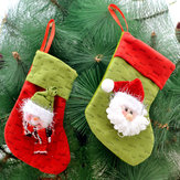 1PC Christmas Stocking Filler Broek Behandel Cadeauzakzak