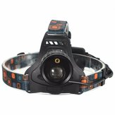 4 Mode LED Zoomable Headlight Headlamp White And Red Laser Light Gunakan 2x18650 baterai