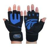 Academia Treinamento Wrist Wrap Glove Weight Lifting Sport Mesh Luvas