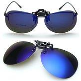 Polarized Sunglasses Clip Güneş Gözlükleri Sürüş Gece Görüş Gözlüğü
