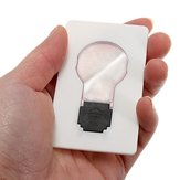 5adet Taşınabilir LED Kart Işığı Pocket Lamba Purse Cüzdan Acil Durum Işıkları