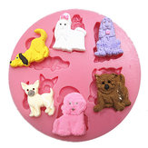 Puppy Dog Silicone Fondant Mould Chocolate Polymer Clay Mould